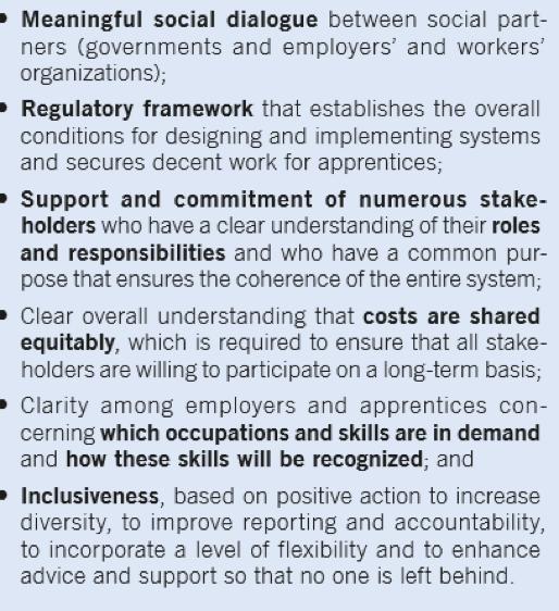 Apprenticeship building blocks