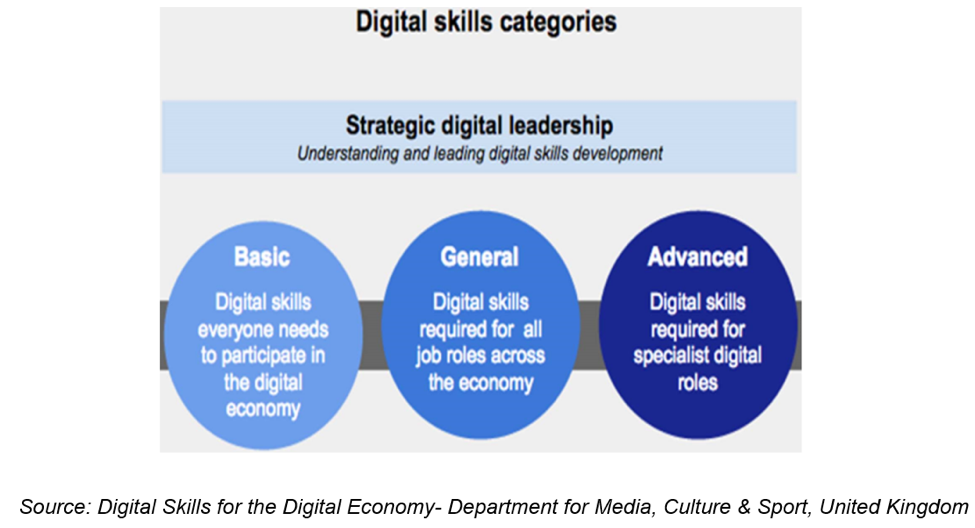Digital skills categories