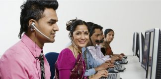 Indians working on laptop
